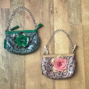 Sharif pink and green shoulder bag bundle